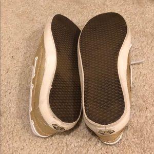 Vans Shoes - Metallic gold vans loafers size 7